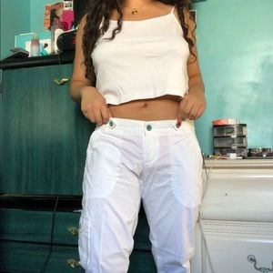 Guess white cargo pant